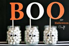 Easy DIY Halloween Craft – Style with Nancy Baby Halloween, Halloween Crafts, Holiday Crafts, Halloween Decorations, Halloween Ideas, Holiday Ideas, Homemade Coasters, Ghost Crafts, Crafts For Kids