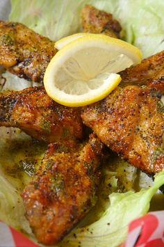 Baked Spicy Lemon Salt and Pepper Wings