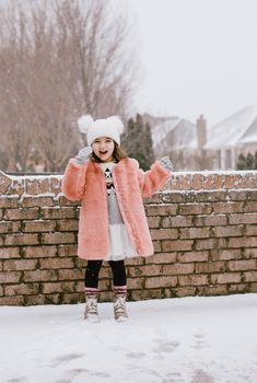 - As adults we love to watch our kids dress up in winter season. And when it comes to our little girl it is important that we provide them with someth. - May 25 2019 at Best Winter Hats, Kids Winter Hats, Kids Winter Fashion, Kids Hats, Cozy Winter, Girls Winter Outfits, Boy Outfits, Winter Dresses, School Outfits