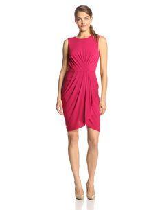 Kaia Sleeveless Faux-Wrap Dress by BCBGMAXAZRIA