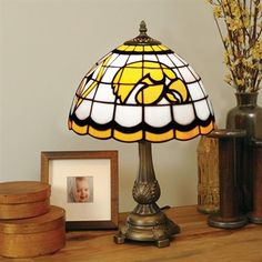 Iowa Hawkeyes Tiffany Table Lamp