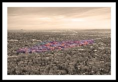 Boulder Colorado Framed Print featuring the photograph #Boulder #Colorado Twenty-five Square Miles Surrounded By Reality by James BO Insogna #insognaGallery