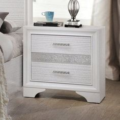 Coaster Furniture Miranda 2 Drawer Nightstand | from hayneedle.com #coasterfurniture #coasterfurnituredrawers