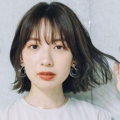 Korean Short Hair Bangs, Short Hair With Bangs, Girl Short Hair, Short Hair Cuts, Thin Bangs, Hairstyles Haircuts, Short Bob Hairstyles, Japanese Short Hair, Japanese Haircut