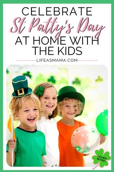 Holidays may continue to look a little different this year. Life as Mama has 7 great ways to celebrate St. Patrick's Day at home with your kids! Click the 4 leaf clover and have a fun and creative holiday! #lifeasmama #stpatricksday #stpattysday #kidactivities #stpatricksdayforkids Fun Activities For Kids, Fun Crafts For Kids, Projects For Kids, Teaching Kids, Kids Learning, Irish Culture, Funny Messages, Mom Advice, Mom Hacks