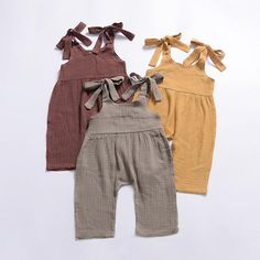 Bundle of 3 rompers Lovey linen baby girl romper in a beautiful fall colors from sizes . Prefect for those pumpkin patches pictures coming up boutique One Pieces Bodysuits Baby Girl Jumpsuit, Baby Girl Romper, Baby Dress, Storing Baby Clothes, Cute Baby Clothes, Babies Clothes, Babies Stuff, Summer Clothes, Jumpsuits For Girls