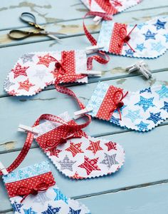 Stitch up some stocking bunting // Homemaker, Issue 50 // Image: cliqq.co.uk