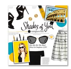 """Shades of You: Sunglass Hut Contest Entry"" by lauren-a-j-reid ❤ liked on Polyvore featuring Chicwish, Chanel, Alice + Olivia, Estée Lauder, Trish McEvoy, Miu Miu, Yves Saint Laurent, Bobbi Brown Cosmetics, Jagger and KG Kurt Geiger"
