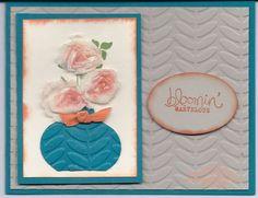 Bloomin' Marvelous Stamp Set & Vine Street Embossing Folder full details on my blog www.stampingwithlinda.com