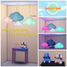 Gelina's cloud lights & fluffy unicorn at Loree via Sims 4 Updates