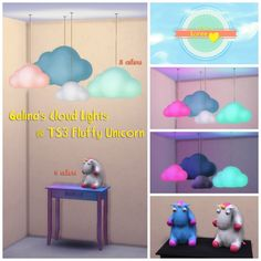 Gelina's cloud lights & fluffy unicorn at Loree via Sims 4 Updates