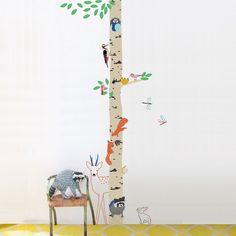 Mimi Lou wallsticker, birketræ med dyr