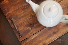 make a serving tray from pallet wood, pallet