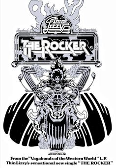 Poster Art Thin Lizzy The Rocker Signed and numbered Limited Edition Print. 23x16. Large Wall Art, Retro Art, Vintage Art, Graphic Art.. $195.00, via Etsy.