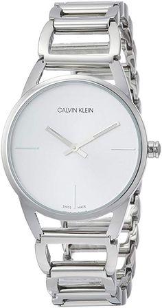 Calvin Klein Women's Quartz Watch ck Stately with Metal Strap Stainless Steel Polish, Stainless Steel Bracelet, Stainless Steel Case, Big Watches, Rolex Watches, Wooden Wedding Bands, Watch Sale, Watch Brands, Quartz Watch