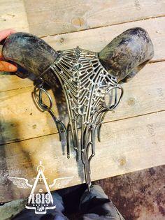Ram skull steel sculpture made by Robert Sevilla  Naudon. www.robertsevillanaudon.com Ram Skull, Steel Sculpture, Skulls, Inspiration, Sevilla, Biblical Inspiration, Inhalation