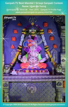 Ujjain Ke Yuvraj Page on Ganpati.TV where all Ganpati festival decoration pictures and videos are shared. Decoration Pictures, Decorating With Pictures, Ganpati Picture, Ganpati Decoration At Home, Ganpati Festival, Ganesh Images, Puja Room, Lord Ganesha, Festival Decorations