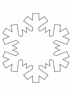 Print Snowflake Simple Shapes Coloring Pages Page Book Your Own Printable