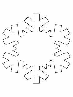 Plantilla copo de nieve