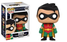 * From Batman Animated Series, Robin, as a stylized POP vinyl from Funko!* Stylized collectible stands nearly 10 cm tall, perfect for any Batman fan!* Collect and display all Batman POP! Funko Pop Dolls, Funko Pop Figures, Pop Vinyl Figures, Heroes Dc Comics, Funko Pop Batman, Batman Batman, Batman The Animated Series, Pop Toys, Batman Birthday