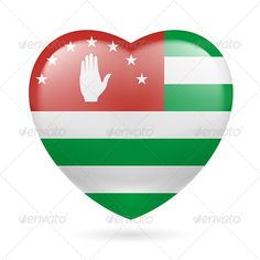 Heart Icon of Abkhazia  #graphicriver