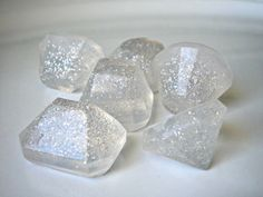 Diamond soaps, clear, jewels soaps -- how cool! Excellent party favor for your bachelorette party or for your wedding guests // Found on Etsy Soap Wedding Favors, Soap Favors, Wedding Gifts, Spa Party, Party Gifts, Bachelorette Favors, Diamond Party, Dream Wedding, Wedding Day