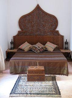 Ethnic Moroccan Style Bedroom With Fabulous Headboard
