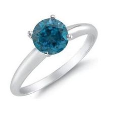 $19.99 - 1 Carat London Blue Topaz Solitaire Sterling Silver Ring