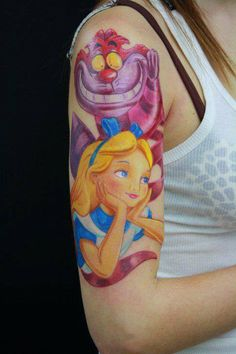 Disney Tattoo ♥ Pin Up Tattoos, Pretty Tattoos, Love Tattoos, Beautiful Tattoos, Body Art Tattoos, Amazing Tattoos, Tattos, Tatoo Art, Cat Tattoo