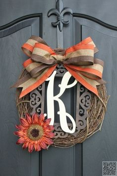 15. Fall #Colors - 55 Awesome #Wreaths to Adorn Your #Front Door ... → DIY…