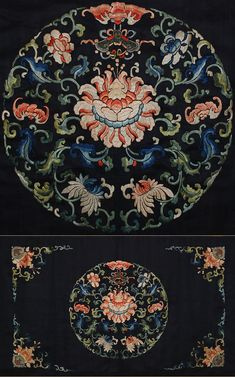 Antique Chinese Imperial Silk Embroidery Textile 1800-1850 A.D