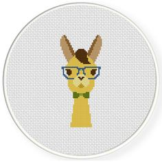 FREE for April 2nd 2015 Only - Hipster Llama Cross Stitch Pattern