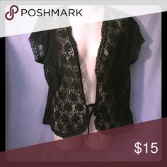 Black lace cardigans Very cute lace cardigan with tie front Tops