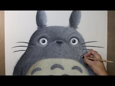 Speed Drawing: Totoro (My Neighbor Totoro Diana Diaz, Totoro Drawing, Miraculous Ladybug Wallpaper, My Neighbor Totoro, Baby Elephant, Studio Ghibli, Illustrators, Owl, Bird