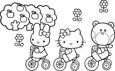 Washi tape frame idea for Hello Kitty coloring pages. Description from pinterest.com. I searched for this on bing.com/images