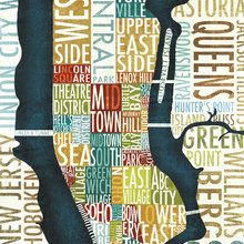 Wall mural - Manhattan Map