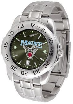 Maine Black Bears- University Of Sport Steel Band Ano-chrome - Men's - Men's College Watches by Sports Memorabilia. $59.95.