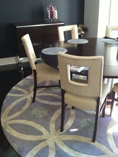 Dining Room Rug | ...  Blue And Brown Dining