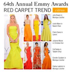 """""""Emmy Awards Red Carpet Trend: Citrus"""" by polyvore-editorial on Polyvore"""