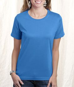 LA T Ladies' Combed Ring-Spun T-Shirt 3580 Iris
