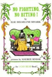 """Children's Book - """"No Fighting No Biting"""" with Maurice Sendak's illustrations is a level 2 early reader; could also be a read aloud."""