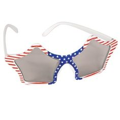 Privateislandparty.com - Patriotic Star Sunglasses 7123 $2.99 A fun way to show your spirit for 4th of July and Memorial Day! Also Great for Election Day or any day you want to show your patriotism. These Patriotic Star Sunglasses fit most in one comfortable size 6.5 inches. These Patriotic Star Sunglasses boast frames in the shape of stars featuring the Old Glory flag design.