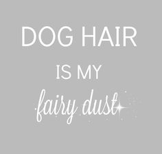 Dog hair is my fairy dust and like OMG! get some yourself some pawtastic adorable cat apparel! I Love Dogs, Puppy Love, Cute Dogs, Puppy Play, Dog Quotes, Animal Quotes, Crazy Dog Lady, Dog Signs, Dogs And Puppies