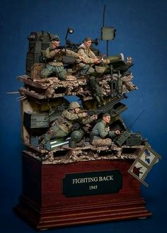 Military Diorama, Military Art, Scale Model, Plastic Models, Wwii, Model Kits, History, Holiday Decor, Minis