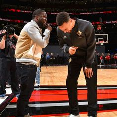 Kevin Hart and Stephen Curry