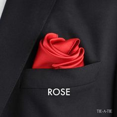 An elegant fold for all your solid pocket squares: The Rose Fold