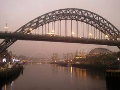Dusk on River Tyne in Newcastle upon Tyne, England by Karen V Bryan, via Flickr