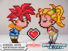 HANDMADE Chrono Trigger - Marle and Crono Kissing Gamer Wedding Cake Toppers