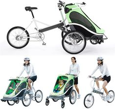 Zigo, carrier bike. Or this commuting option at around $1600.00.  Is our Corolla even worth that much? Ha ha