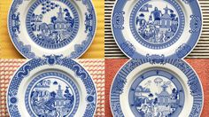 Remaking enhanced versions of the original four Calamityware dinner plates using the classy in-glaze technique this time.